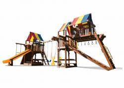 Игровой комплекс Rainbow Саншайн Клубхаус с Башней Тент (Sunshine Clubhouse with Tower RYB)