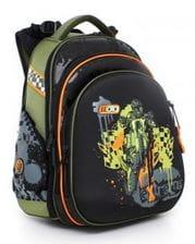 Черный ранец Hummingbird Moto Extreme для мальчика (T57)
