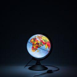 Глобус Земли физико-политический Globen 210 мм с подсветкой Классик