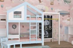 Двухъярусная кровать-домик с игровым комплексом «Финляндия-2»