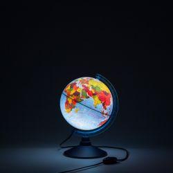 Глобус Земли физико-политический 210 мм с подсветкой Globen Классик Евро