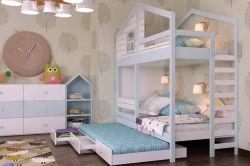Двухъярусная кровать-домик «Финляндия»-5