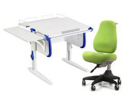 Комплект ДЭМИ Парта WHITE СТАНДАРТ СУТ-24-02 с креслом Match Chair и прозрачной накладкой на парту 65х45