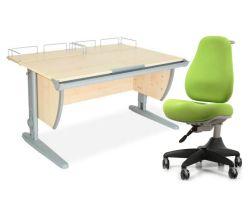 Комплект ДЭМИ Парта СУТ-15-01 120х55 см с креслом Match Chair и прозрачной накладкой на парту 65х45