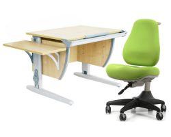 Комплект ДЭМИ Парта СУТ 14К с креслом Match Chair и прозрачной накладкой на парту 65х45