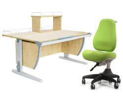 Комплект ДЭМИ Парта СУТ 15-01Д с креслом Match Chair и прозрачной накладкой на парту 65х45