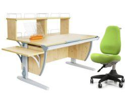 Комплект ДЭМИ Парта СУТ 15-02Д2 с креслом Match Chair и прозрачной накладкой на парту 65х45