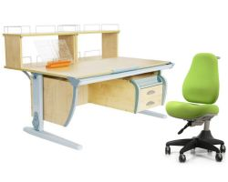 Комплект ДЭМИ Парта СУТ 15-04Д2 с креслом Match Chair и прозрачной накладкой на парту 65х45