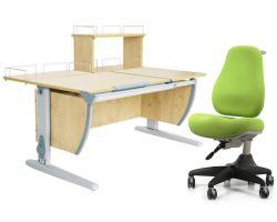 Комплект ДЭМИ Парта СУТ 17-01Д с креслом Match Chair и прозрачной накладкой на парту 65х45