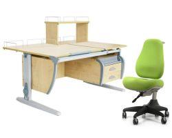 Комплект ДЭМИ Парта СУТ 17-04Д с креслом Match Chair и прозрачной накладкой на парту 65х45