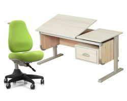 """Комплект ДЭМИ Парта """"Ученик"""" сут-29 с креслом Match Chair и прозрачной накладкой на парту 65х45"""