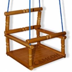 Качели детские деревянные (лак)