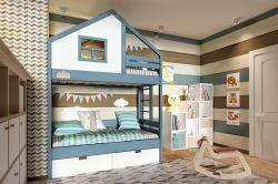 Двухъярусная кровать-домик «Финляндия»-4 базовая
