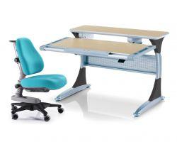 Комплект Comf-pro Стол Harvard с ящиком с креслом «Newton» (Ньютон) и прозрачной накладкой на парту 65х45