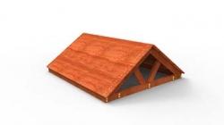 Крыша деревянная для ДИП
