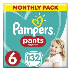 Подгузники-трусики 132 шт. PAMPERS (Памперс) Pants, размер 6 (15+ кг), 1210765