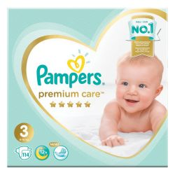 "Подгузники, 114 шт., PAMPERS (Памперс) ""Premium Care"", размер 3 (6-10 кг), 1210791"