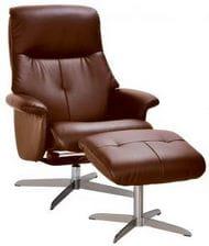 Кресло реклайнер Relax BOSS с пуфом для ног