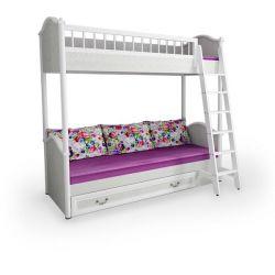 Кровать детская 38 попугаев 2-ярусная с лесенкой