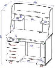 Стол для первоклассника КС 20-21 М2