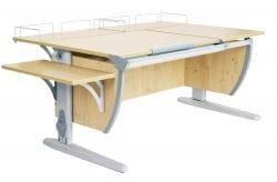 Парта Дэми (Деми) СУТ 17-02 (парта 120 см+две задние приставки+боковая приставка)