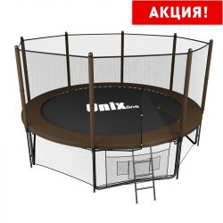 Батут UNIX line 12 ft Black&Brown (outside) (366 см)