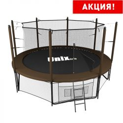 Батут UNIX line 12 ft Black&Brown (inside) (366 см)