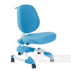 Комплект FunDesk Парта-трансформер Amare с креслом Buono и прозрачной накладкой на парту 65х45
