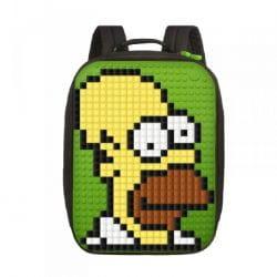 Большой пиксельный портфель Canvas classic pixel Backpack с ортопедической спинкой