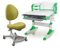 Комплект Mealux Парта Aivengo - S с креслом Neapolи прозрачной накладкой на парту 65х45