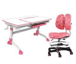 Комплект FunDesk Парта-трансформер Amare с креслом SST6 и прозрачной накладкой на парту 65х45