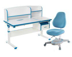 Комплект FunDesk Парта-трансформер Creare с креслом Primavera I и прозрачной накладкой на парту 65х45