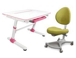 Комплект Mealux Парта трансформер Duke с креслом Neapol и прозрачной накладкой на парту 65х45
