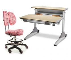 Комплект Mealux Стол Grand с креслом Simba и прозрачной накладкой на парту 65х45