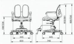 Ортопедическое кресло для школьника Duorest KIDS DR-280DDS