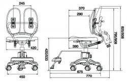 Ортопедическое кресло для школьника Duorest KIDS DR-289SG(L)