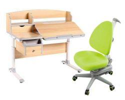 Комплект FunDesk Парта-трансформер Sognare с креслом SST10 и прозрачной накладкой на парту 65х45