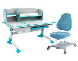 Комплект FunDesk Парта-трансформер Amare II с ящиком с креслом Primavera I и прозрачной накладкой на парту 65х45