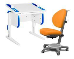 Комплект ДЭМИ Парта Techno СУТ 26 с креслом Cambridge и прозрачной накладкой на парту 65х45