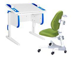 Комплект ДЭМИ Парта Techno СУТ 26 с креслом Champion и прозрачной накладкой на парту 65х45