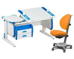 Комплект ДЭМИ Парта Techno СУТ 31-03 с тумбой с креслом Cambridge и прозрачной накладкой на парту 65х45
