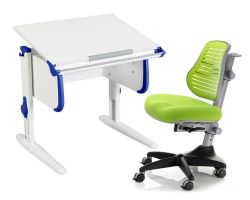 Комплект ДЭМИ Парта WHITE СТАНДАРТ СУТ 24 с креслом Conan и прозрачной накладкой на парту 65х45