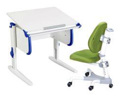 Комплект ДЭМИ Парта WHITE СТАНДАРТ СУТ 24 с креслом Champion и прозрачной накладкой на парту 65х45