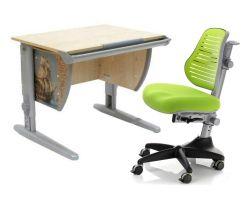 Комплект ДЭМИ Парта СУТ-14P 75х55 см с рисунком с креслом Conan и прозрачной накладкой на парту 65х45