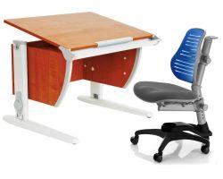 Комплект ДЭМИ Парта СУТ-14 75х55 см с креслом Oxford C3 и прозрачной накладкой на парту 65х45