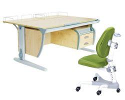 Комплект ДЭМИ Парта СУТ-15-04 120х55 см с задней приставкой с креслом Champion и прозрачной накладкой на парту 65х45