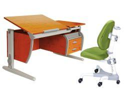 Комплект ДЭМИ Парта СУТ-17-04 120х80 см с креслом Champion и прозрачной накладкой на парту 65х45
