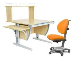 Комплект ДЭМИ Парта СУТ 14-02Д с креслом Cambridge и прозрачной накладкой на парту 65х45