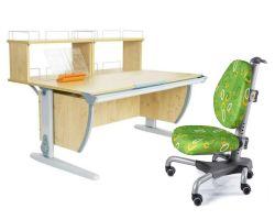 Комплект ДЭМИ Парта СУТ 15-01Д2 с креслом Nobel и прозрачной накладкой на парту 65х45