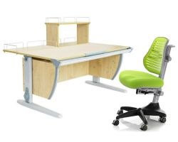 Комплект ДЭМИ Парта СУТ 15-01Д с креслом Conan и прозрачной накладкой на парту 65х45
